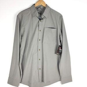 Swiss Tech Medium NWT Gray Longsleeve Button Shirt
